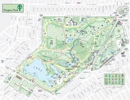 Map of Prospect Park, Brooklyn