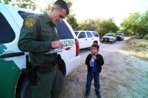 Child and border officer