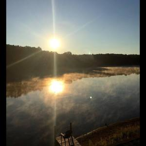 Misty Morning Job Pond August 7 15